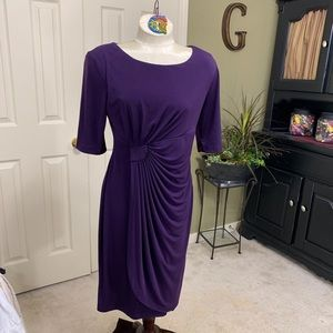 Connected Apparel Purple Dress Size 10